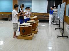 太鼓の練習