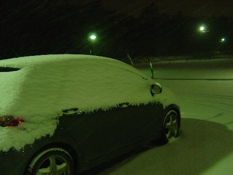 雪ヴィッツ(2008.12.11)