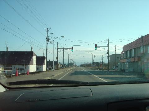まっすぐで平和な道路(2009.03.29)