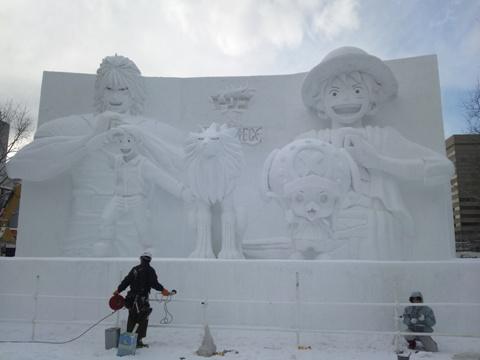 雪まつり準備中(2012.02.04)