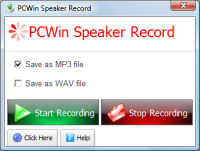 PCWin Speaker Record