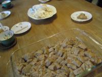 くるみ餅作り