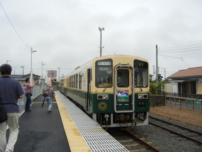 2011/7/30阿字ヶ浦駅にて