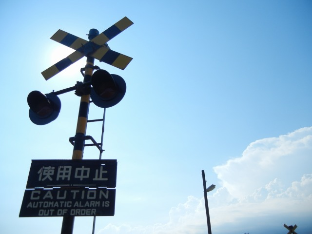 阿字ヶ浦~磯崎間の踏切(2011/7/10)