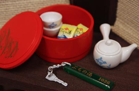 お部屋でお茶を。