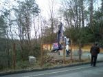 工期が3月末なので現地ではもう森林組合が取り掛かっていました。