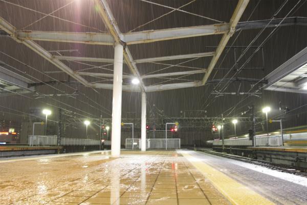 雪が降り続き