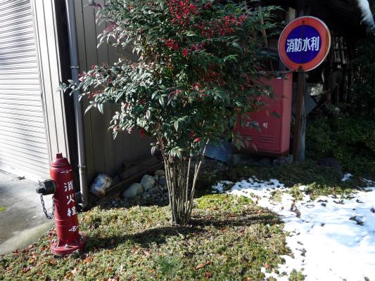 ちょっぴりレトロな消火栓があったり