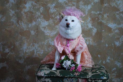 ピンクのお帽子で♪
