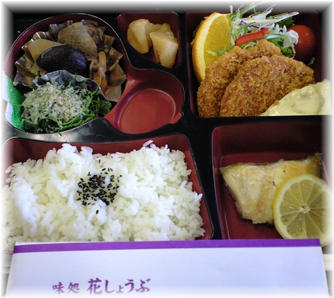 20090409 花しょうぶ お弁当