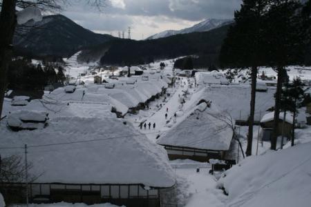 大内宿の冬