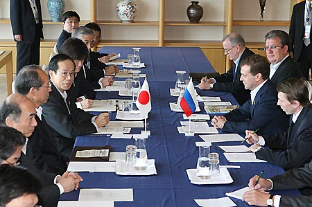 福田首相とロシア大統領