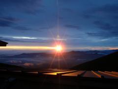 硫黄岳山荘からの御来光
