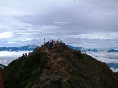 大混雑の赤岳頂上