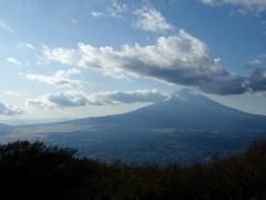 頂上からバッチり富士山