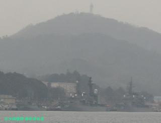 舞鶴基地の元護衛艦はるな 前島埠頭から 7