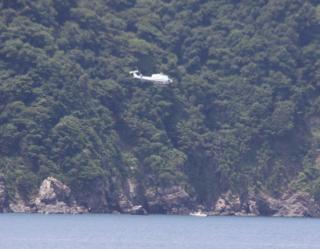 舞鶴基地上空をゆくヘリコプターたちの姿 6