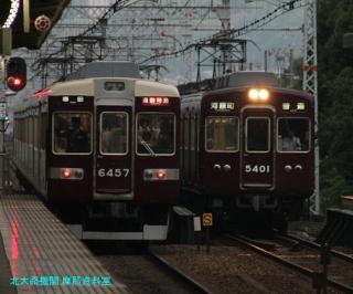 阪急電車と梅雨明け後の雨 4