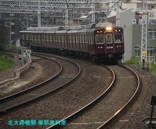 阪急電車と梅雨明け後の雨 5