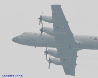 岐阜基地 見上げればP-3CとC-130H 6