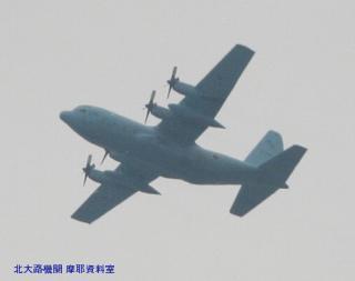 岐阜基地 見上げればP-3CとC-130H 8