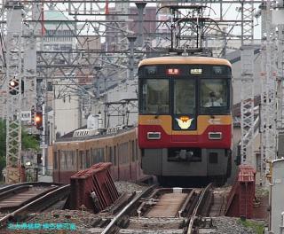 京阪 鳥羽街道の特急通過など 5