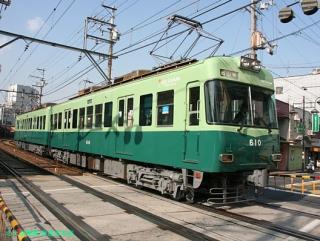 石山坂本線の600系 1