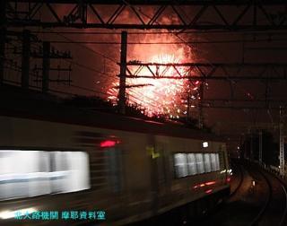 名鉄電車と花火大会 2