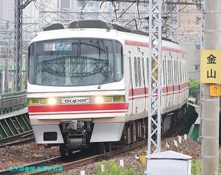 名鉄本線 名古屋と金山の間の名鉄電車 2