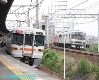 名鉄本線 名古屋と金山の間の名鉄電車 6