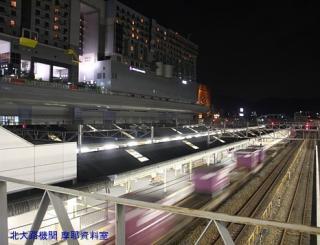 京都駅 特急雷鳥 遅れて到着した様子 4
