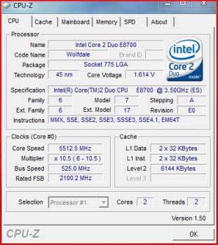 E8700 OCed