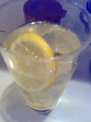 ハイボールにレモン入れていただきました