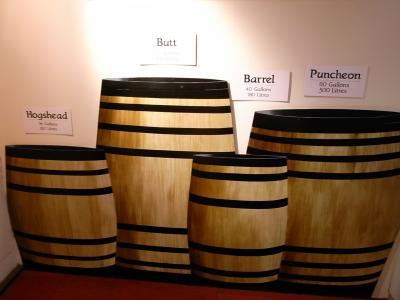 樽にもいろいろ種類があります