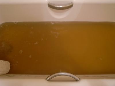 アイラの水はピート色