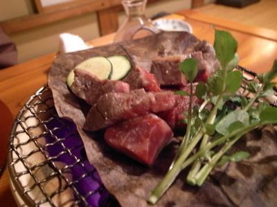 牛肉のホオバ焼き