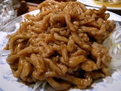 豚肉の細切り味噌炒め