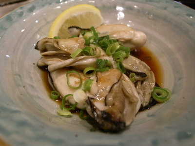 焼き牡蠣のポン酢和え