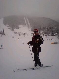 流れ葉スキー場にて、筆者