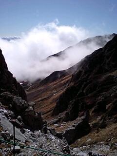 駒ヶ岳千畳敷きカール登山道から見下ろし091011_1031~0001