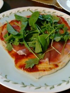 生ハムのピザ!