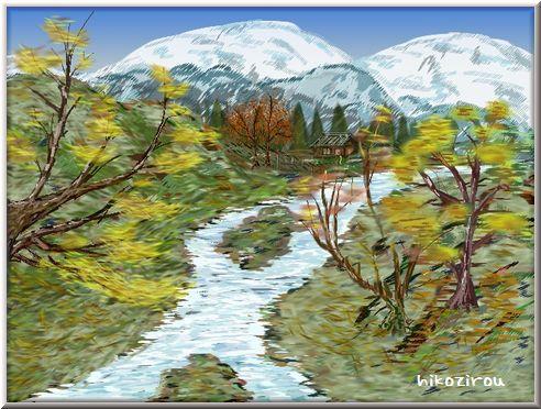 山里の風景12月