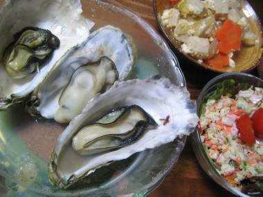 牡蠣とおかず