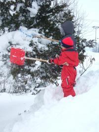 090114雪遊び