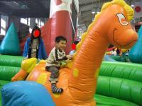 090120恐竜に乗って