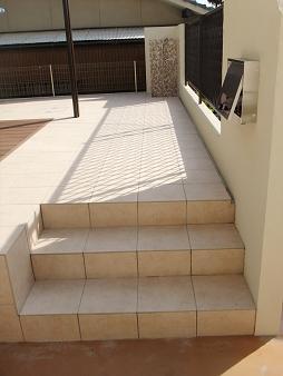 テラス階段