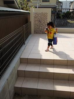 テラス階段②