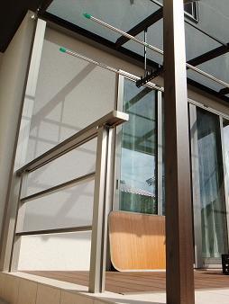 テラス屋根 柱