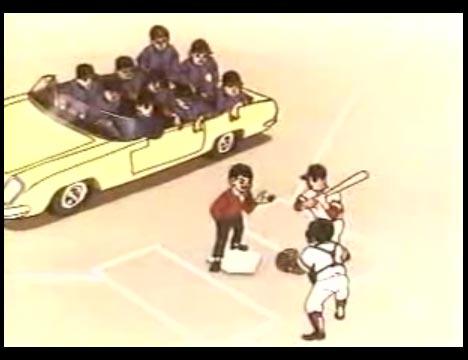 巨人の星 第三話 王貞治との対決 オープンカー ブラックシャドウズ 10人乗り