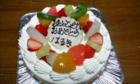 はるき7歳の誕生日1-ケーキ